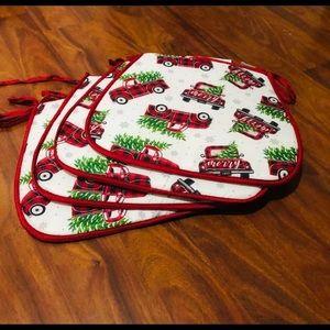 Christmas chair pads